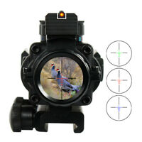 4X32 Rifle scope+ Red green and blue dot doctor reflex sight/ Fits 20mm rail