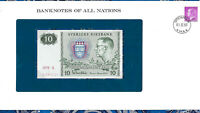 Banknotes of All Nations Sweden 10 Kronor 1979 serie X P52d UNC BIRTHDAY 1937