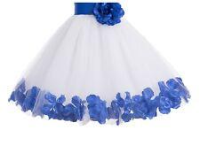 343da145b White And Blue Flower Girl Dresses
