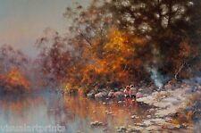 Ramon Ward-Thompson, Wollondilly Reflections,  Large Australian Landscape.