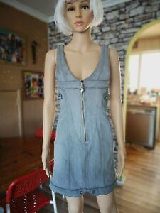 Diesel Denim grey Dress Size l. Fits uk 10/12. Hardley ever used.