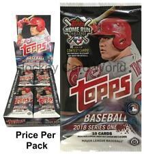 (HCW) 2018 Topps MLB Baseball Series 1 Hobby PACK - 10 Cards Per Pack