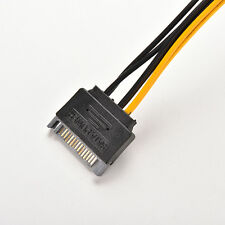 1X 20cm SATA 15Pin Male To 6Pin Female PCI-E Video  Card VGA Power Cable bg