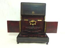 Antique French Napoleon III Ebonized Wood Cave Liqueur Box
