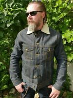 """Eat Dust """"The Ghost Riders"""" Limited Edition 122/135 Raw Selvage Denim Jacket XL"""