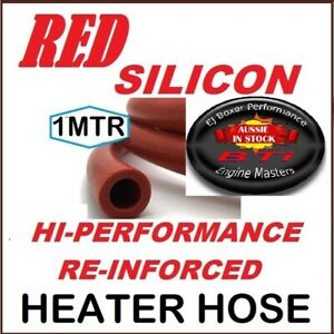 SILICONE HEATER HOSE RED REINFORCED HI PERF.  12MM ID 1 length x 1MTR- FREE POST
