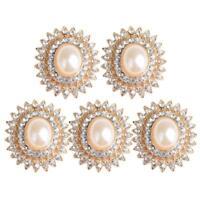 Snowflake Flatback Pearl Embellishments Christmas Craft Cardmaking 50/&100 FE