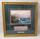 THOMAS KINKADE Framed Accent Print Beacon of Hope w/ Certificate of Authenticity