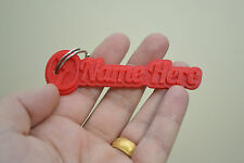 Personalised Mazda Keyring Rubber Tags Novelty Keychain 3D Name Key Fob car gift