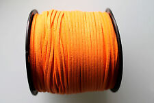 10 METERS TANGERINE COLOUR SUEDE LEATHER CORD