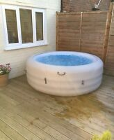 Lay-z-spa Lazy Vegas Inflatable Hot Tub Including Chemical Starter Kit Used Once