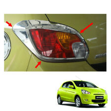 Tail Lamp Light Cover Chrome Trim 2Pc Fit Mitsubishi Mirage Space Star 2012 - 15