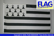 DRAPEAU BRETAGNE 150x90cm - DRAPEAU BRETON - FRANCE 90 x 150 cm Polyester léger