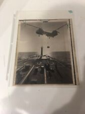 US NAVY SHIPS PRESS PHOTO FOR THE CHICAGO SUN TIMES AIRLIFTING SUPPLIES VIETNAM