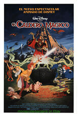 THE BLACK CAULDRON MOVIE POSTER 27x41 Spanish Ver.Different Art DISNEY ANIMATION