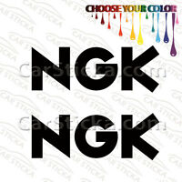 "2 of 8"" NGK Spark Plugs /A aftermarket car bumper vinyl stickers decals die cut"