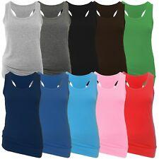 2 Damen Tank Tops - Sommer- oder Sport Tops mit Ringerrücken - Träger Shirt TOP