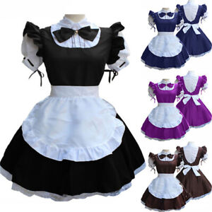 Cute Maid Dress Girl Lolita Anime Cosplay Costume Lady Japanese Uniform Waitress