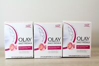 3 Olay Daily Facials 5 In 1 Water Activated Dry Cloths Grapeseed Extract 33 Each