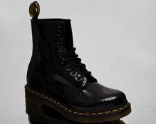 Dr. Martens 1460 патент женская черная желтая кожа образ жизни обувь ботинки
