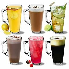 GRANDE Latte Macchiato Bicchieri Cappuccino in vetro Tassimo Costa TAZZINE TAZZE - 380ml-x6