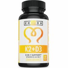 Vitamin K2 (MK7) with D3 Supplement - Vitamin D  K Complex for Strong Bones and