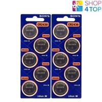 10 SONY CR2430 LITHIUM BATTERIES 3V 300 MAH CELL COIN BUTTON EXP 2029 NEW