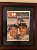 Mickey Mantle HARD Signed Yankees Vintage 1961 Life Magazinewith Roger Maris PSA