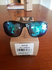 New Costa Del Mar Howler shiny black/Green Mirror 580G polarized Sunglasses 580