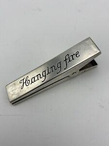 Thomae Co Sterling Silver File Letter Clip Engraved Hanging Fire Office Desk 29g