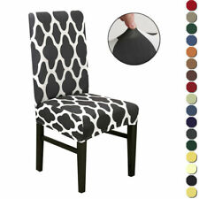 1-8x Dining Chair Covers Slipcovers Spandex Stretch Wedding Banquet Party Decor
