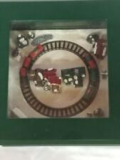"""Mr. Christmas """"I have been working on the railroad """" Music Box 4.5"""" X 4.5"""""""
