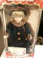 Collectors Choice Genuine Fine Bisque Porcelain Doll - Hand Painted - New In Box