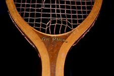 Antique Vintage Wood 1915 Wright & Ditson The Park Tennis Racket Excellent