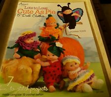 """2013 ANNIE'S CROCHET, LOTS TO LOVE CUTE AS PIE 5"""" DOLL CLOTHES, 7 PROJECTS"""