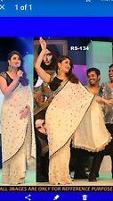 Bollywood Sari con Stitch Camicia pesante lavoro ricami e paillettes