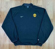 NIKE Mens MANCHESTER UNITED FC Fleece Sweatshirt   Football Sport   2XL Black