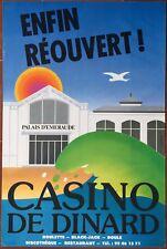 Affiche CASINO DE DINARD Enfin réouvert Palais d'Emeraude par GROGNET