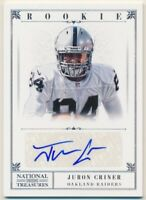 2012 Panini National Treasures #251 Juron Criner Rookie Autograph /99