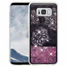 Samsung Galaxy S8, S8+ Plus, Slim Liquid Floating Glitter Quicksand Cover Case