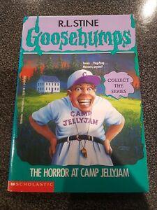 GOOSEBUMPS - The horror at camp Jellyjam #33 - 8th printing paperback book RARE