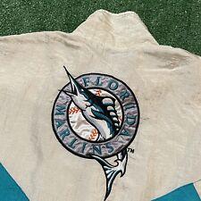 Florida Marlins Jacket Mens XL Adult White Teal Vintage 90s MLB Baseball Retro