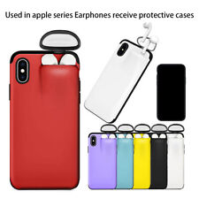 2 IN 1 PHONE PROTECTIVE COVERS EARBUDS EARPHONE HOLDER CASE FOR IPHONE AIR-PODS