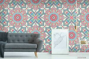3D Mandala Pattern Wallpaper Wall Mural Removable Self-adhesive Sticker1061