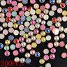 200PCS Lots 3D DIY Nail Art Alloy Decor Rhinestone Cute Pearl Glitter Tips 4mm T