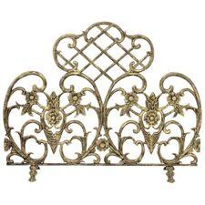 Uniflame Single Panel Antique Gold Cast Aluminum Fireplace Screen