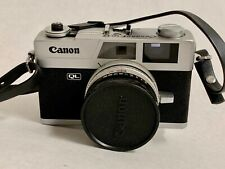 Vintage CANON QL 17 FILM CAMERA 40mm 1:1.7 Lens Leather Case Quick Load AS IS