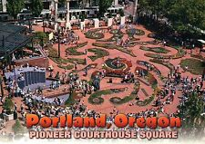 Pioneer Courthouse Square Portland Oregon, Annual Festival of Flowers - Postcard