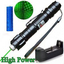 10 Miles 532nm Green Laser Pointer Pen Visible Beam Lazer+18650Battery+Star Cap