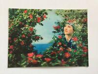 3D Lenticular Postcard - Native Girl in Camellia Grove, Toppan, Tokyo, Japan